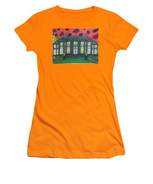 Dupont Family Mansion. Women's T-Shirt (Junior Cut) by Jonathon Hansen