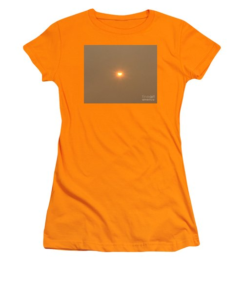 Women's T-Shirt (Athletic Fit) featuring the photograph Eclipse Of The Heart by Marie Neder