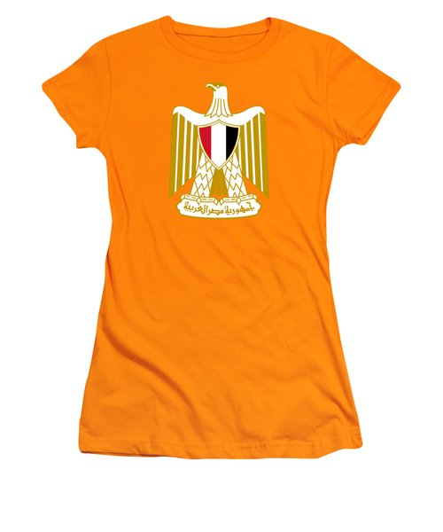 Egypt Coat Of Arms Women's T-Shirt (Junior Cut) by Movie Poster Prints