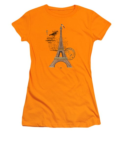 Eiffel Tower T Shirt Design Women's T-Shirt (Athletic Fit)