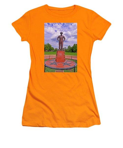 Eisenhower Museum Courtyard Memorial 001 Women's T-Shirt (Junior Cut) by George Bostian
