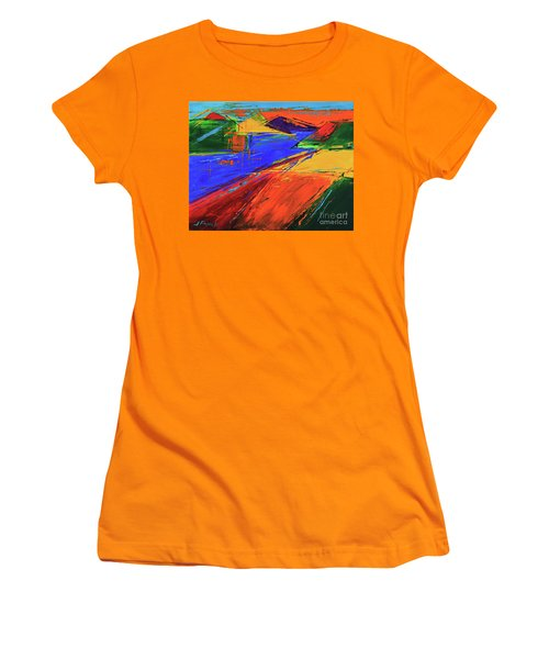 Electric Color Women's T-Shirt (Junior Cut) by Jeanette French