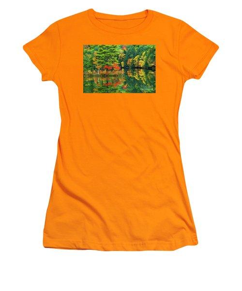 Emerald Lake  Women's T-Shirt (Athletic Fit)