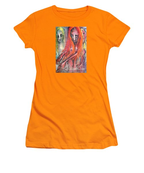 Emerging Reminders In Swamp Vapor Women's T-Shirt (Junior Cut) by Kenneth Agnello