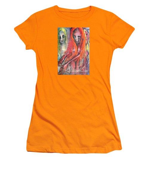 Emerging Reminders In Swamp Vapor Women's T-Shirt (Athletic Fit)