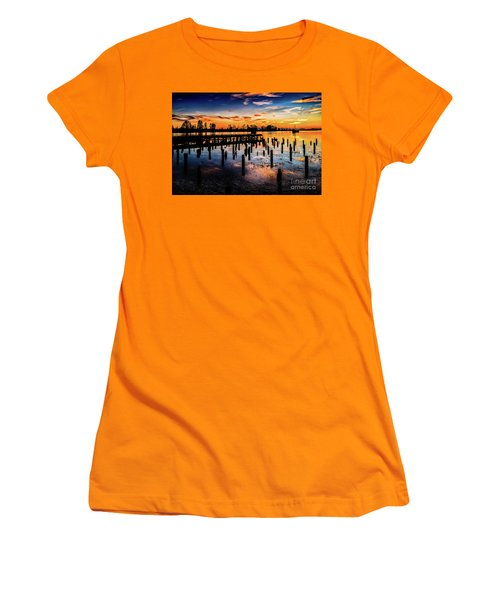 End Of The Fishing Day Women's T-Shirt (Athletic Fit)