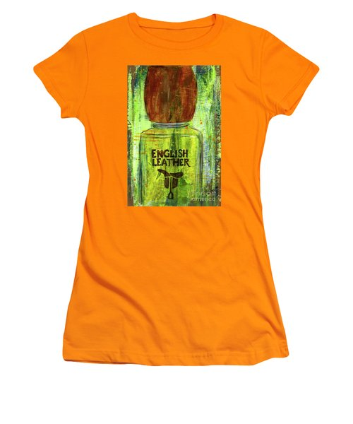Women's T-Shirt (Junior Cut) featuring the painting English Leather by P J Lewis