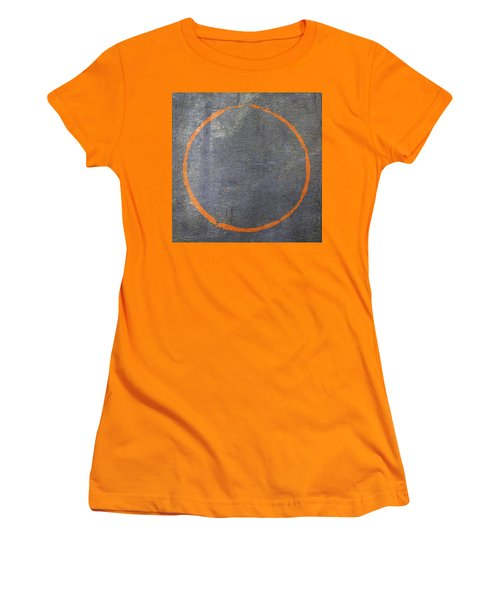 Women's T-Shirt (Junior Cut) featuring the digital art Enso 2017-20 by Julie Niemela