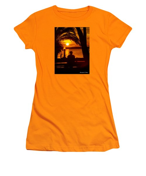 Women's T-Shirt (Junior Cut) featuring the photograph Eustis Sunset by Christopher Holmes