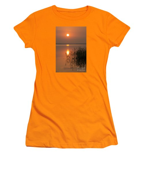 Women's T-Shirt (Junior Cut) featuring the photograph Evening Reflections by Inge Riis McDonald