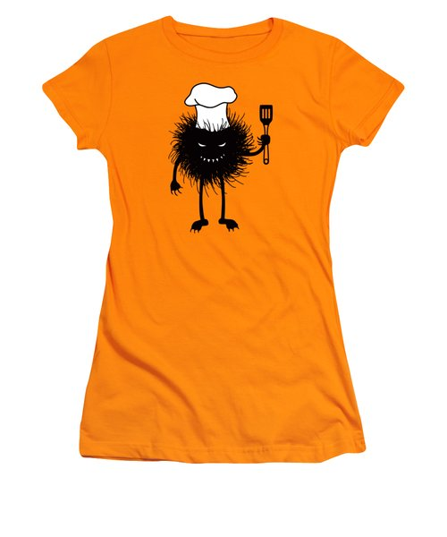 Evil Bug Chef Loves To Cook Women's T-Shirt (Junior Cut)