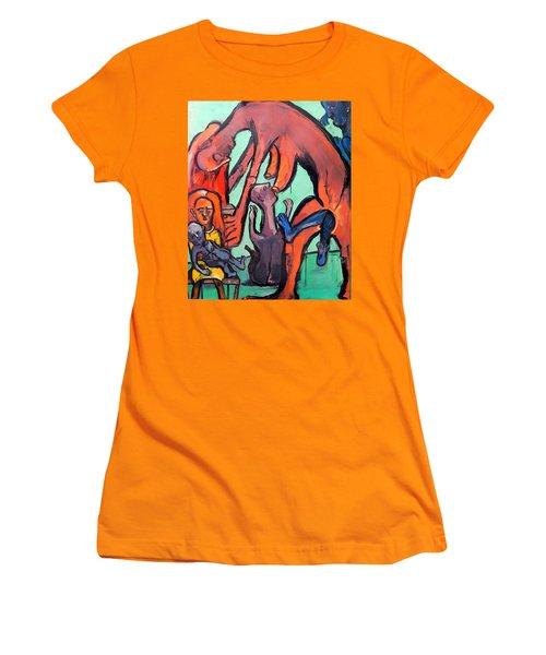 Evolution Stuck - Fertility Women's T-Shirt (Junior Cut) by Kenneth Agnello