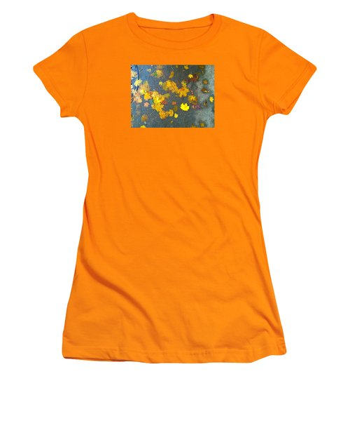 Fading Leaves Women's T-Shirt (Junior Cut) by Suzanne Lorenz