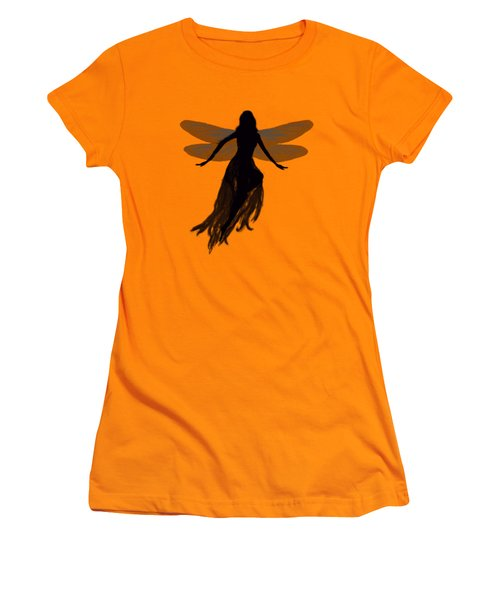 Fairy Silhouette Women's T-Shirt (Junior Cut) by Tom Conway