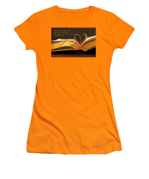 Faith. Hope. Love. Women's T-Shirt (Junior Cut) by Iryna Goodall