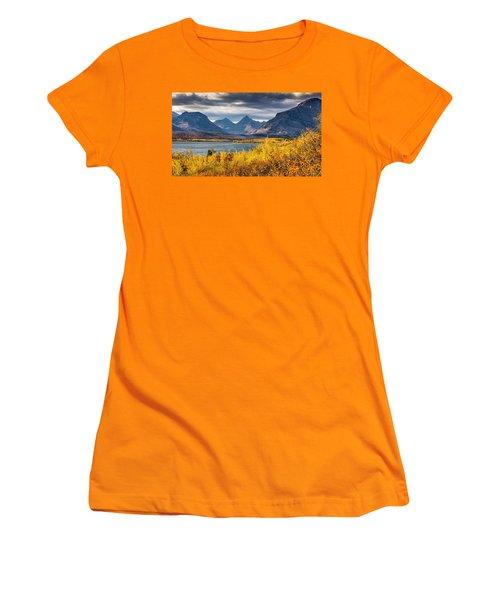Fall Colors In Glacier National Park Women's T-Shirt (Junior Cut) by Pierre Leclerc Photography