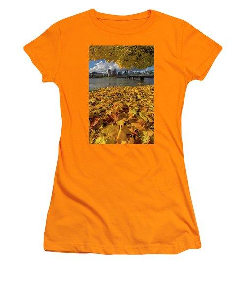 Fall Foliage In Portland Oregon City Women's T-Shirt (Athletic Fit)