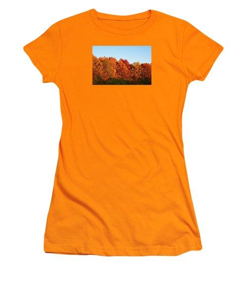 Fall Forest Women's T-Shirt (Junior Cut) by Nikki McInnes