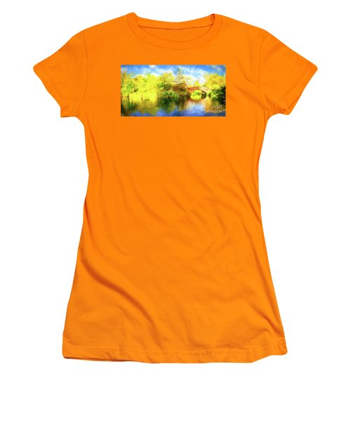 Women's T-Shirt (Junior Cut) featuring the photograph Fall In Central Park by Jim  Hatch