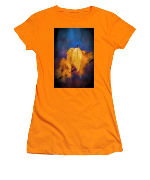 Fall Leaves Women's T-Shirt (Athletic Fit)