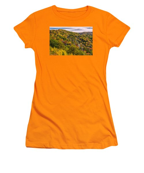 Women's T-Shirt (Junior Cut) featuring the photograph Fall Mountain Side by Tyson Smith