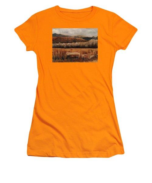 Fall Plains Women's T-Shirt (Junior Cut) by Sharon Schultz