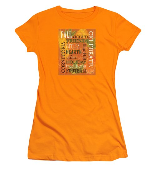 Fall Typography 2 Women's T-Shirt (Athletic Fit)