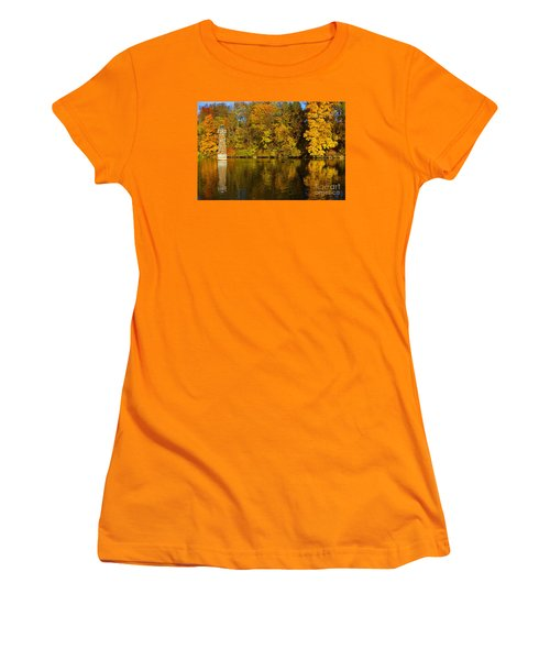 Falls Park Lighthouse In Fall Women's T-Shirt (Athletic Fit)