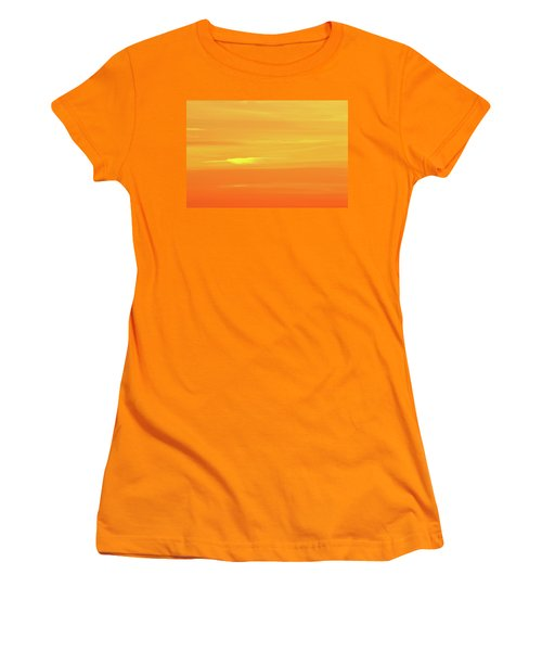Feather Cloud In An Orange Sky  Women's T-Shirt (Junior Cut) by Lyle Crump