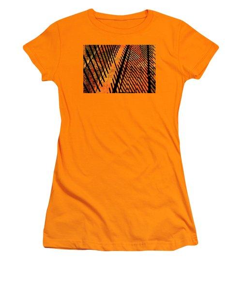 Fenced Framework Women's T-Shirt (Junior Cut) by Don Gradner