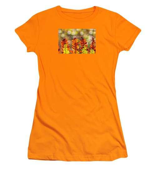 Ferns And Bokeh Forest Light Women's T-Shirt (Athletic Fit)