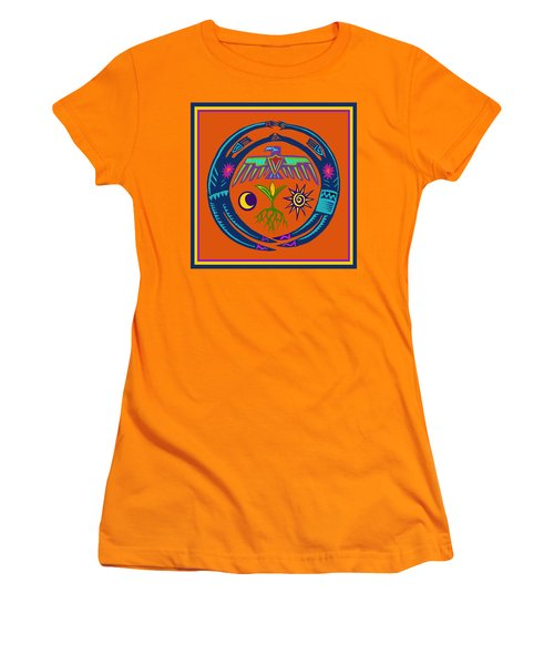 Women's T-Shirt (Junior Cut) featuring the digital art Fertility Dance by Vagabond Folk Art - Virginia Vivier