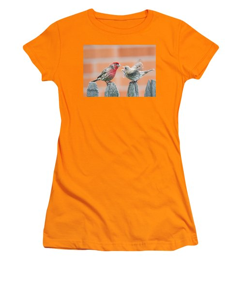 Feuding Finches Women's T-Shirt (Athletic Fit)