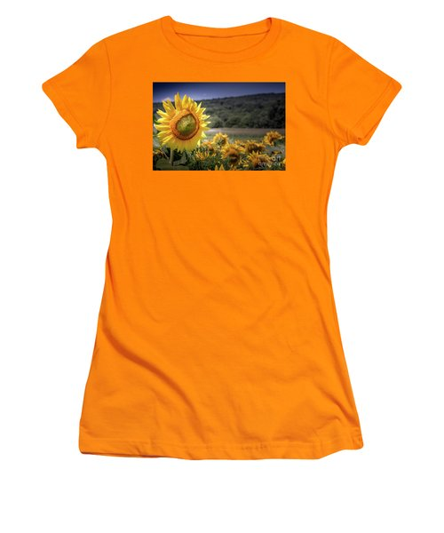 Field Of Sunflowers Women's T-Shirt (Athletic Fit)