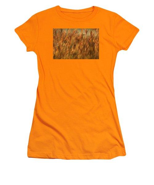 Fields Of Golden Grains Women's T-Shirt (Junior Cut) by Emanuel Tanjala