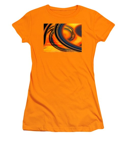 Women's T-Shirt (Junior Cut) featuring the photograph Fiery Celestial Rings  by Shawna Rowe