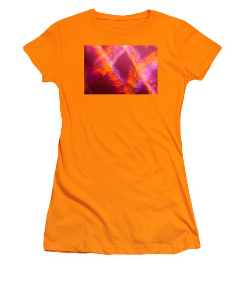 Women's T-Shirt (Athletic Fit) featuring the photograph Fiery Cyclonic Fury by Greg Collins