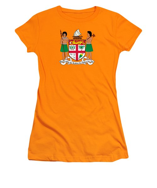 Fiji Coat Of Arms Women's T-Shirt (Junior Cut) by Movie Poster Prints