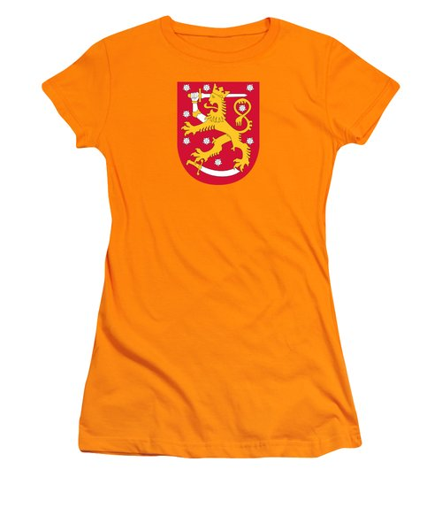 Finland Coat Of Arms Women's T-Shirt (Athletic Fit)