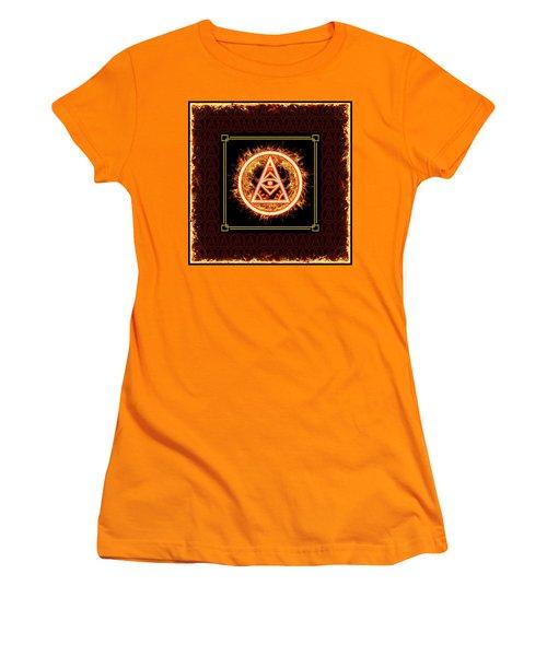 Women's T-Shirt (Athletic Fit) featuring the digital art Fire Emblem Sigil by Shawn Dall