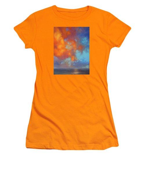 Fire In The Sky Women's T-Shirt (Junior Cut) by Vivien Rhyan