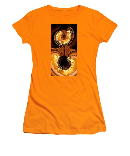 Fired Up Women's T-Shirt (Junior Cut) by Ron Bissett