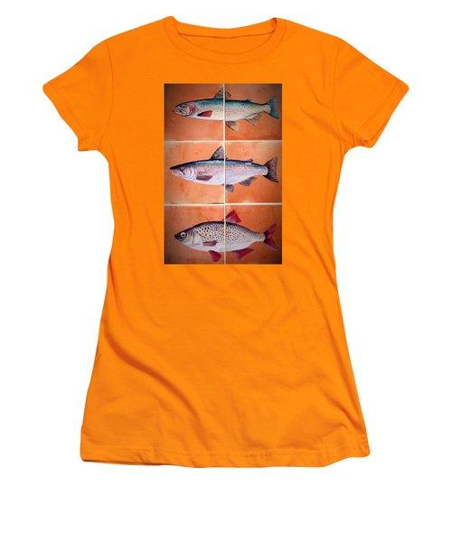 Fish Mural Women's T-Shirt (Athletic Fit)