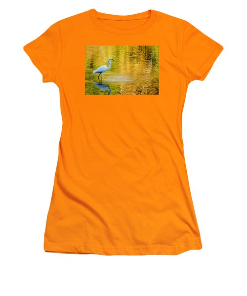 Women's T-Shirt (Junior Cut) featuring the photograph Fishing 2 by Wade Brooks