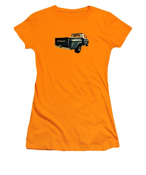 Five-six Chevy Pickup And The Golden Sky Women's T-Shirt (Athletic Fit)