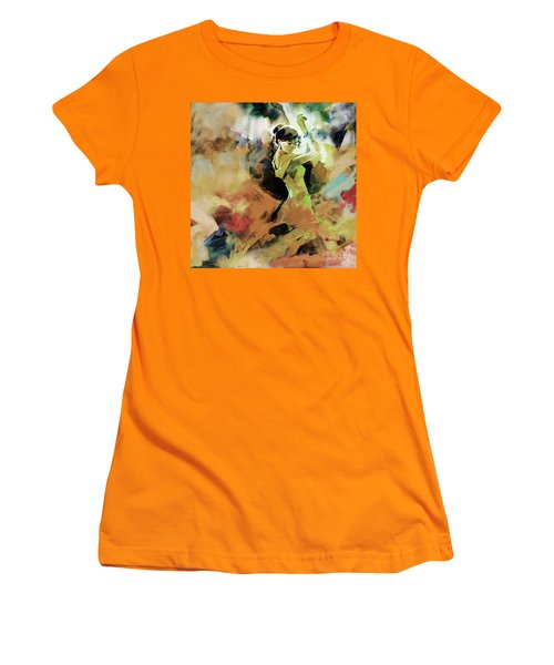 Women's T-Shirt (Junior Cut) featuring the painting Flamenco 56y3 by Gull G