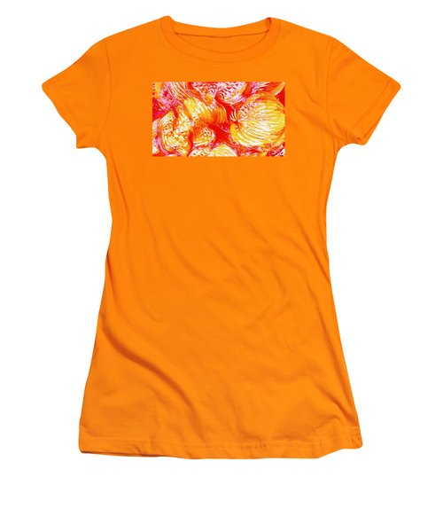 Flaming Hosta Women's T-Shirt (Athletic Fit)