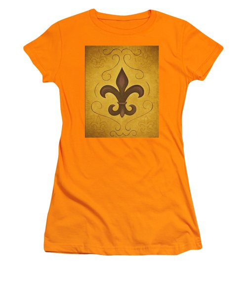 Fleur De Lis II Women's T-Shirt (Athletic Fit)