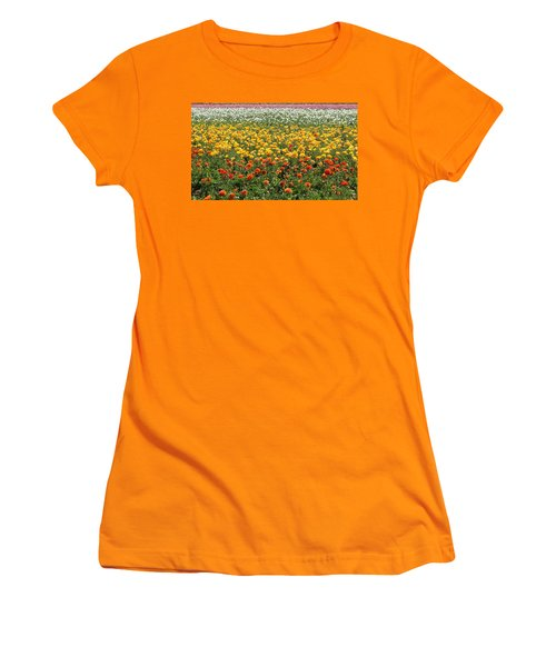 Flower Blanket From Carlsbad Women's T-Shirt (Athletic Fit)
