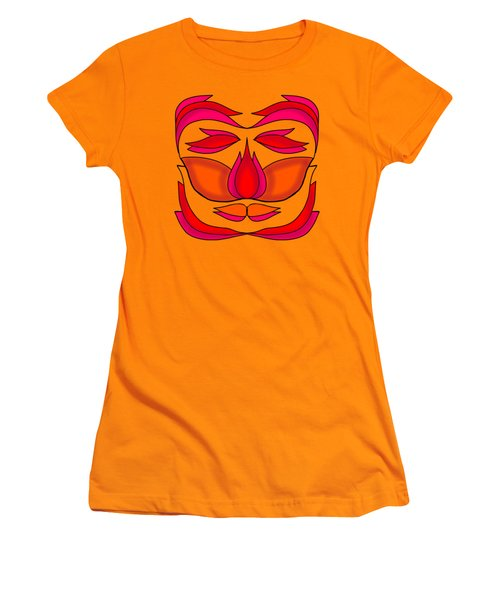 Flower Face Women's T-Shirt (Athletic Fit)